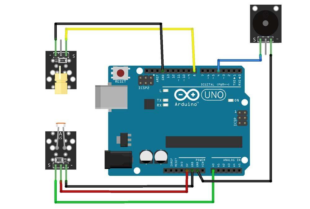 Allarme laser con Arduino